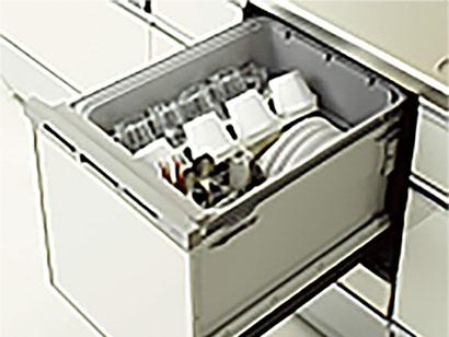 食洗機を標準装備 後片付けは機械に任せて食後は寛ぎタイム。